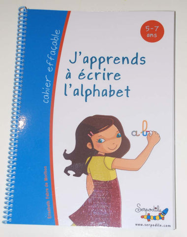 j'apprends l'écriture cursive