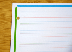 copies simples lignes couleurs interligne 2mm