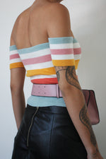 Candy Stripe Off The Shoulder Top