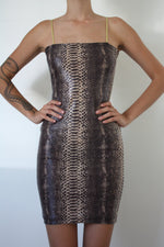 Snake Fitted Dress