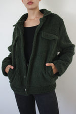 Green Trucker Teddy Jacket
