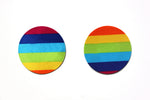Pink Heart & Rainbow Circle Nipple Covers