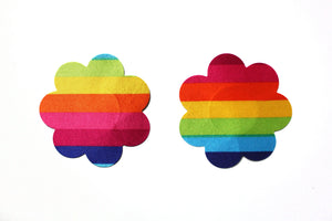 Rainbow Flower & Heart Nipple Covers