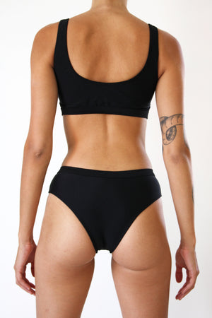 Black Buckle Bikini Set