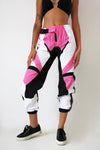 Pink Colour Block Track Pants