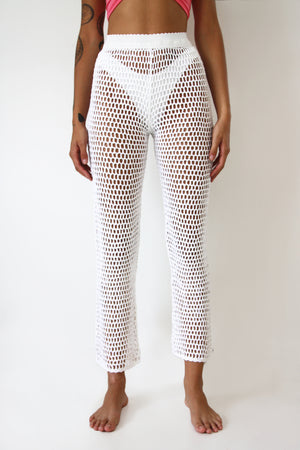 White Embroidery Culottes