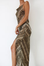 Bali Sheer Snake Slip Dress