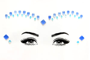 Cobalt Glow Face Jewels