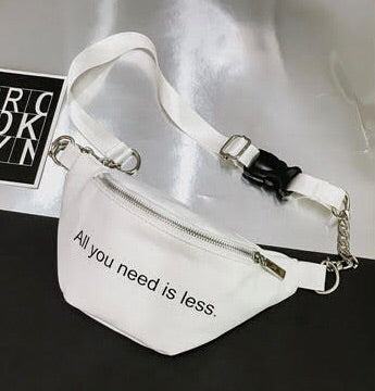 Slogan chain bum bag