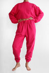 Barbie Pink Plain Tracksuit Set