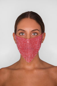 Pink Neon Face Mask Cover