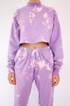 Purple Tie Dye Tracksuit Set
