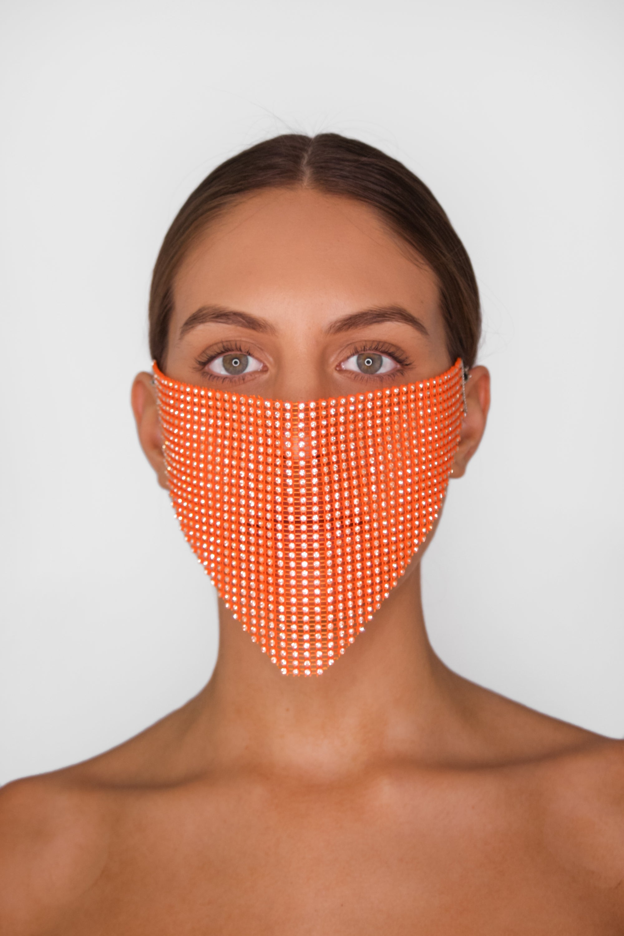Orange Neon Face Mask Cover
