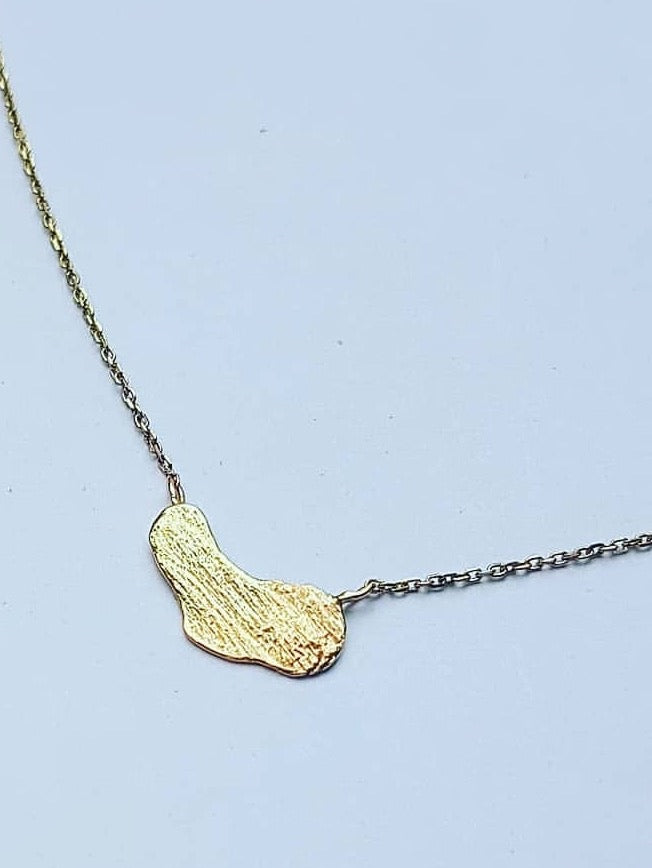 Alix Barclay - 9ct gold nugget necklace