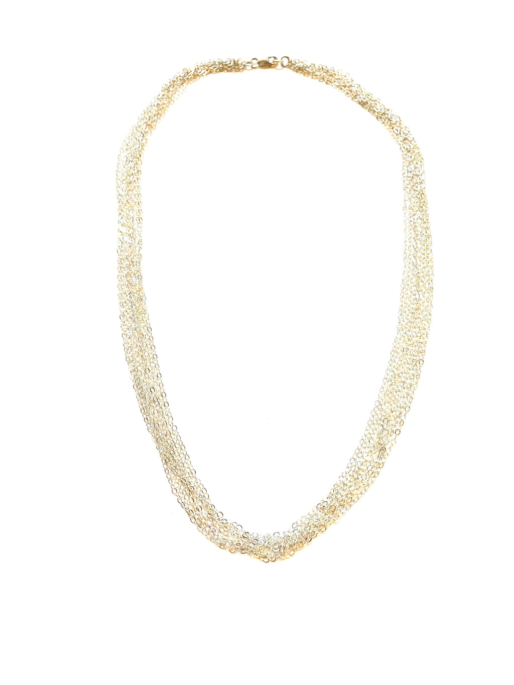 Layer Chain Silver Necklace