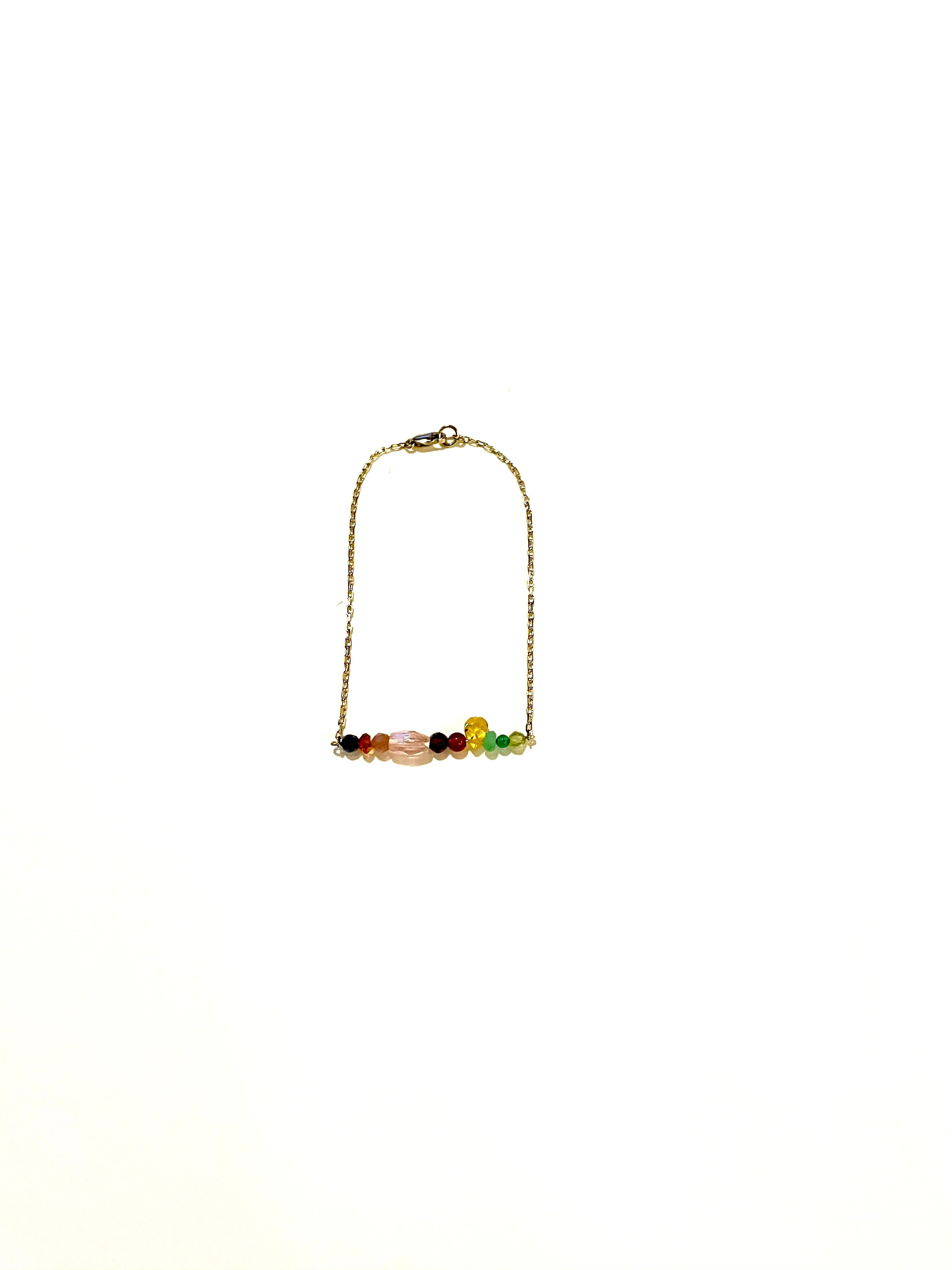 Rainbow Bar Gold Bracelet