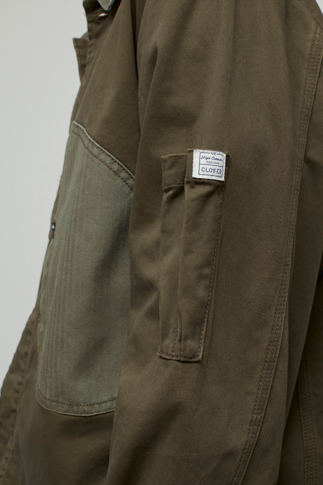 Nigel Cabourn X Closed Overshirt In Forest Night