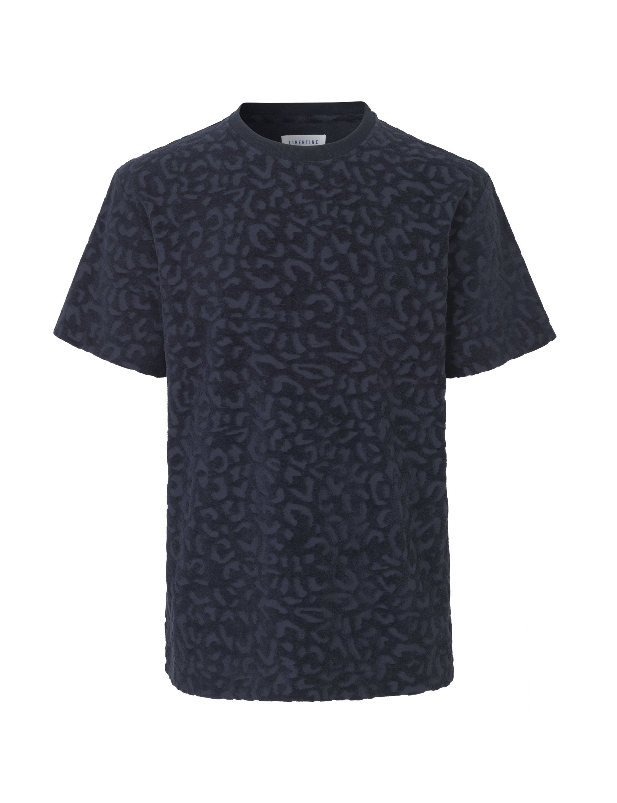 Libertine Libertine - Cut Out T Shirt - Navy