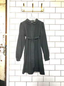 Vintage See by Chloe Black Wool Dress