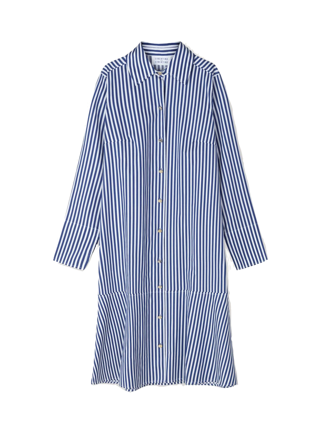 Ease Dress Royal Stripe
