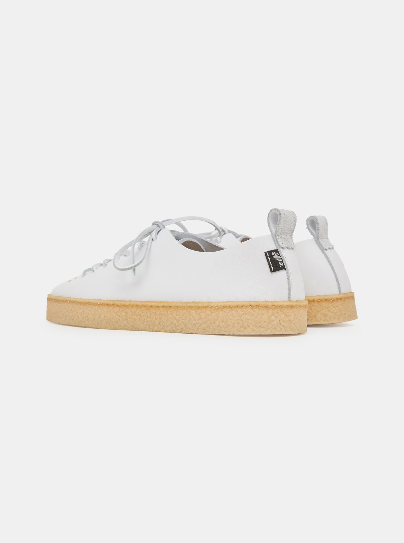 Rufus Crepe White Leather Trainer