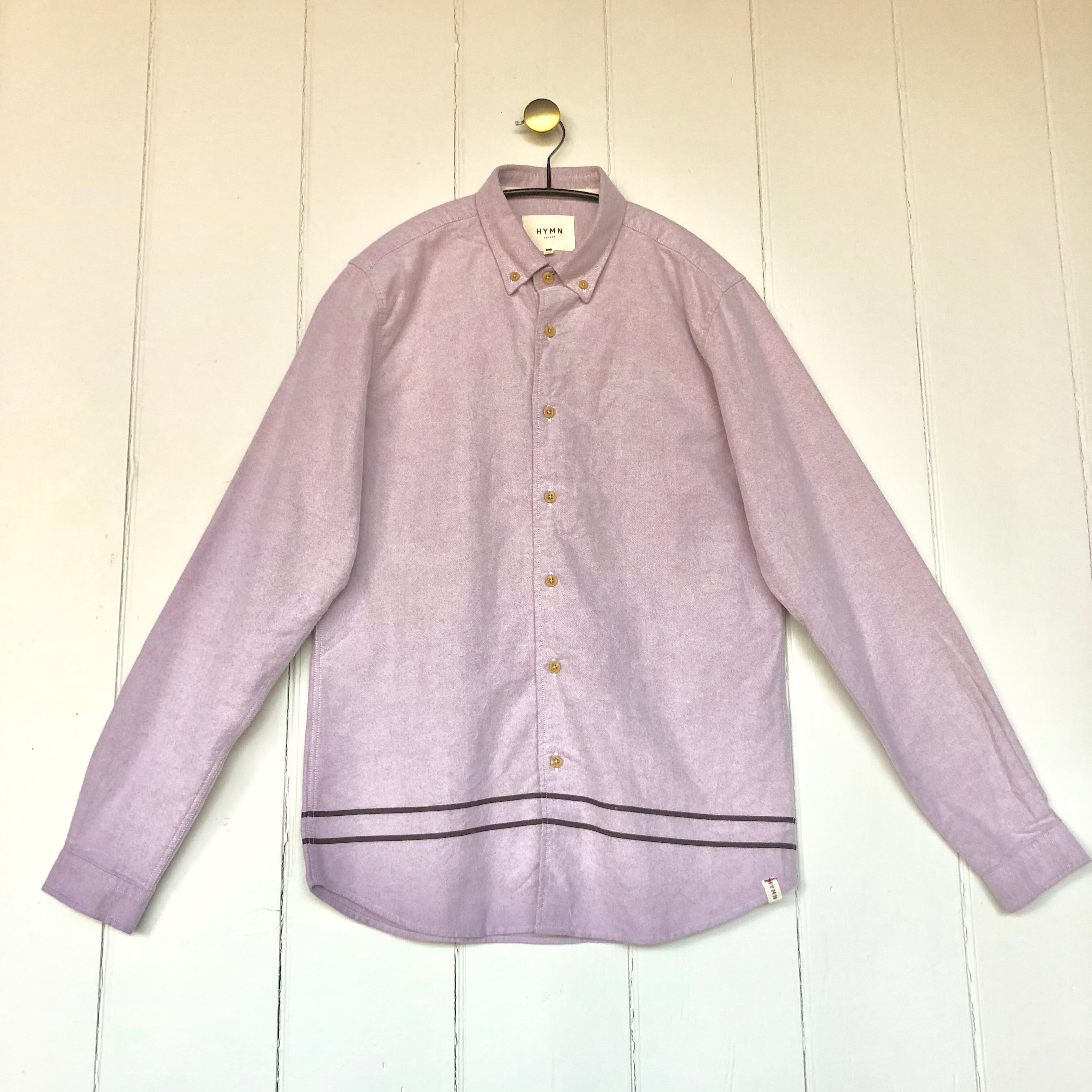 Cedar Brushed Cotton Pink Oxford Shirt