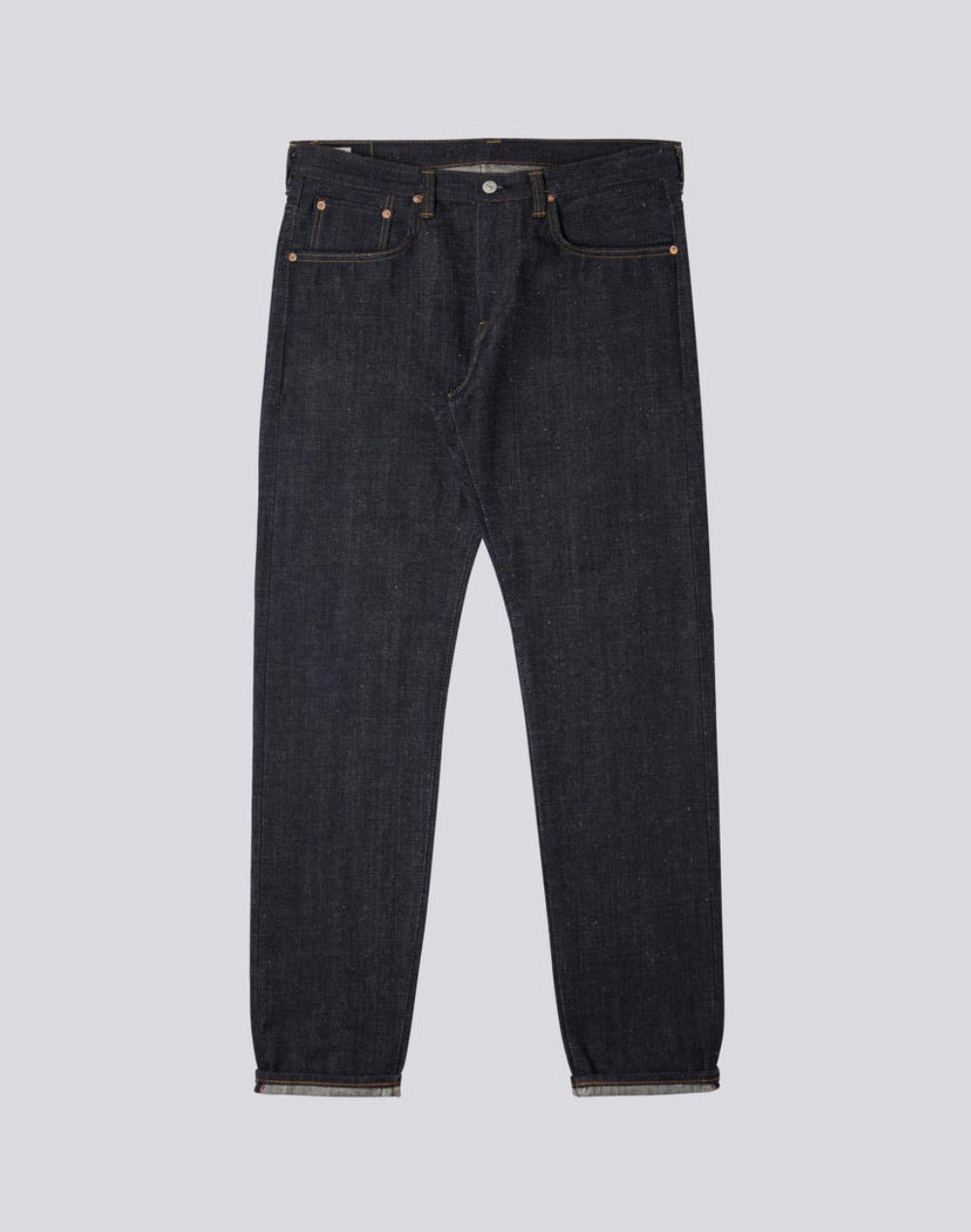 Regular Tapered Nihon Menpu Dark Indigo Blue Raw Jeans