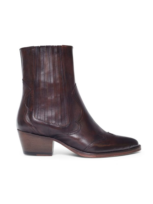 Sienna Brown Leather Boot