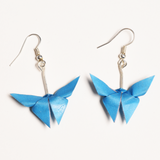 Origami Butterfly Blue Earrings