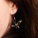 Origami Black Swan Earrings