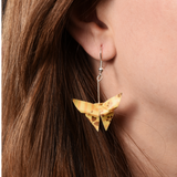 Origami Butterfly Yellow Earrings