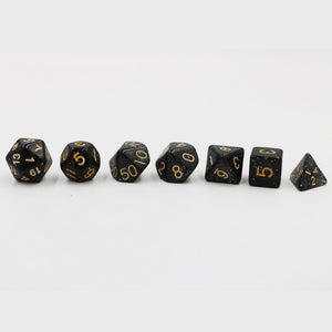 "7 Pc Set ""Black Sequins""  I  Acryl  I  D4-D20"