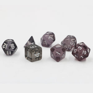 "7 Pc Set  ""Faint Glow""  I  D4-D20"