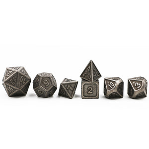 "7 Pc Set  ""Iron Stock""  I  Pure Metal  I  D4-D20"