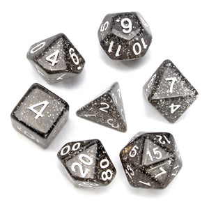 "7pc Set ""Nebula Black""  I  Translucent  I  D4-D20"