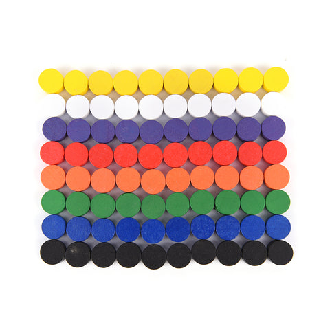 100pc Wooden Counter  I  8 Colors