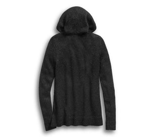 SWEATER HOODEDLS KNIT  BLACK   96175-20vw