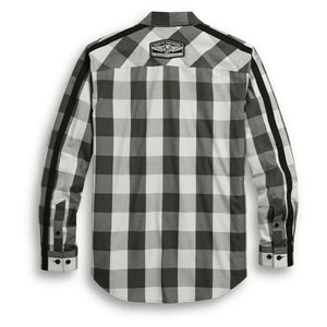 96303-20VM MEN'S SLEEVE STRIPE PLAID SHIRT - 96303-20VM