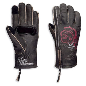 GLOVES  FF CANT LEATHER  BLACK   97114-20vw