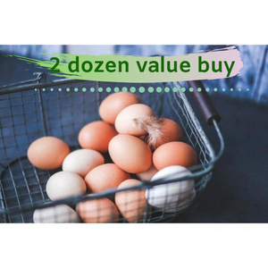 Subscription 2 dozen Milawa Organic Free Range pasture Eggs