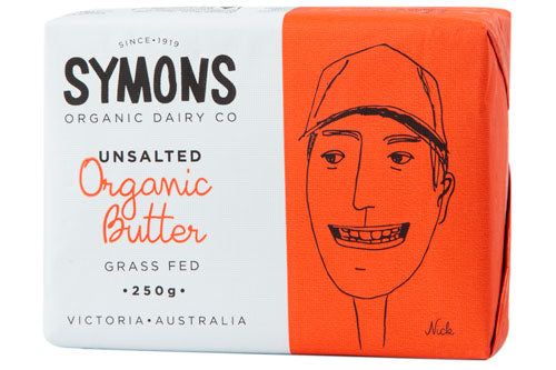 Symons Organic Butter -Unsalted 250grms