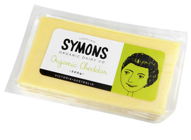 Symons Organic Dairy Cheddar Cheese 500G WAREHOUSE PICKUP ONLY