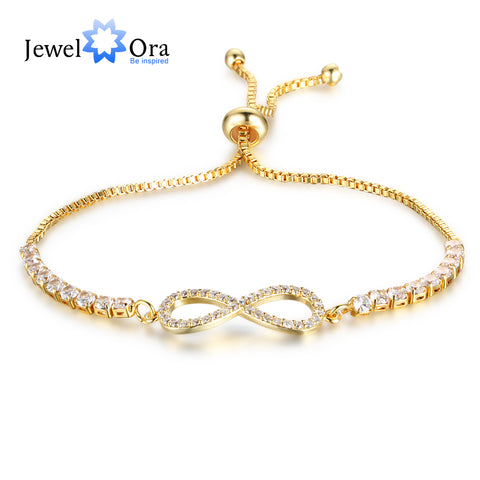 Jewelry Adjustable Bracelet For Women Cubic Zirconia (JewelOra BA102042)