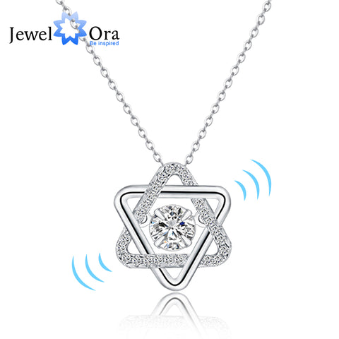 Dancing Stone  Cubic Zirconia Necklaces & Pendants  Party Necklace  (JewelOra PE101376)