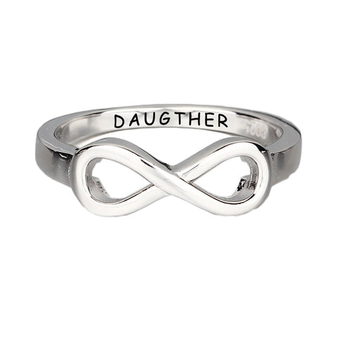 Friendship Rings 925 Sterling Silver Infinity Ring Cubic Zirconia Ring