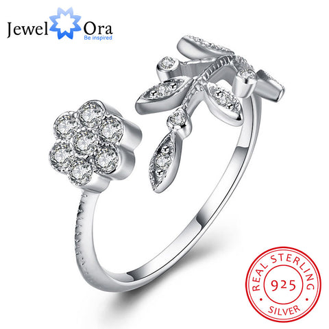 Leaves Design Solid   Jewelry Adjustable Cubic Zirconia  (JewelOra RI102188)