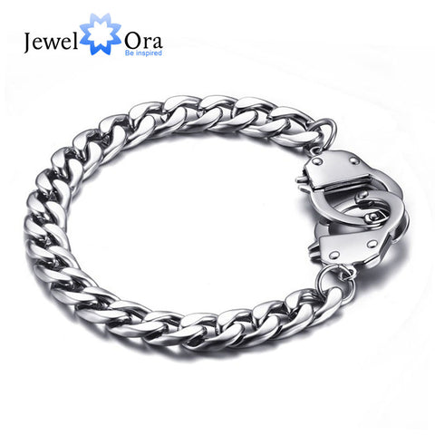 205mm  Handcuff Bracelet Men Bracelet & Bangle Casual Wrist Chain (JewelOra BA101407)