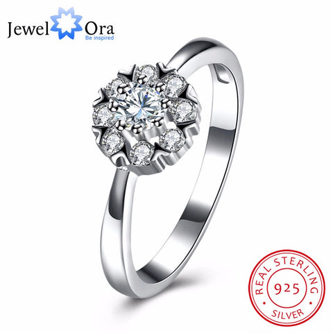 Engagement Ring Fashion Jewelry Cubic Zirconia  Anniversary Gift For Her(JewelOra RI102644)