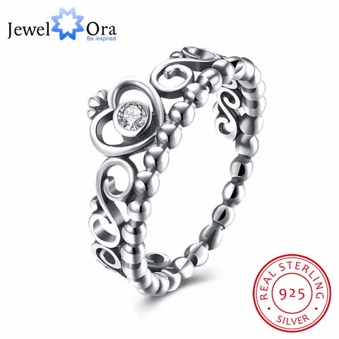 Love Crown Cubic Zirconia Party Jewelry Rings  (JewelOra RI102604)