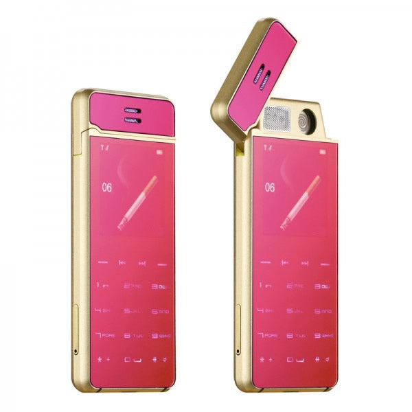 Mini Lighter Phone Ultrathin Card Bluetooth Dialer Anti-lost Metal Body